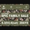 2018.SUMMER SPIC FAMILY SALE 開催のお知らせ 8/3(fri)-4(sat)2DAYS